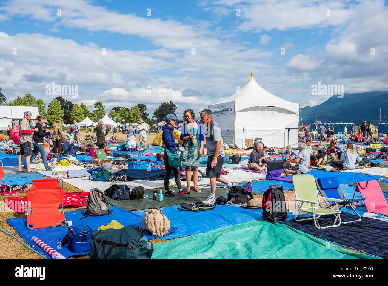 40ª anual Festival de Música Folk de Vancouver, Vancouver, British Columbia, Canadá. Imagen De Stock
