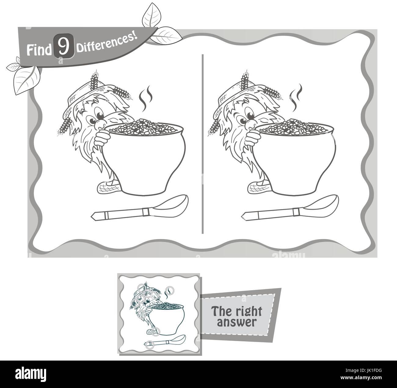 Visual Juego Para Niños Libro Para Colorear Tarea Para