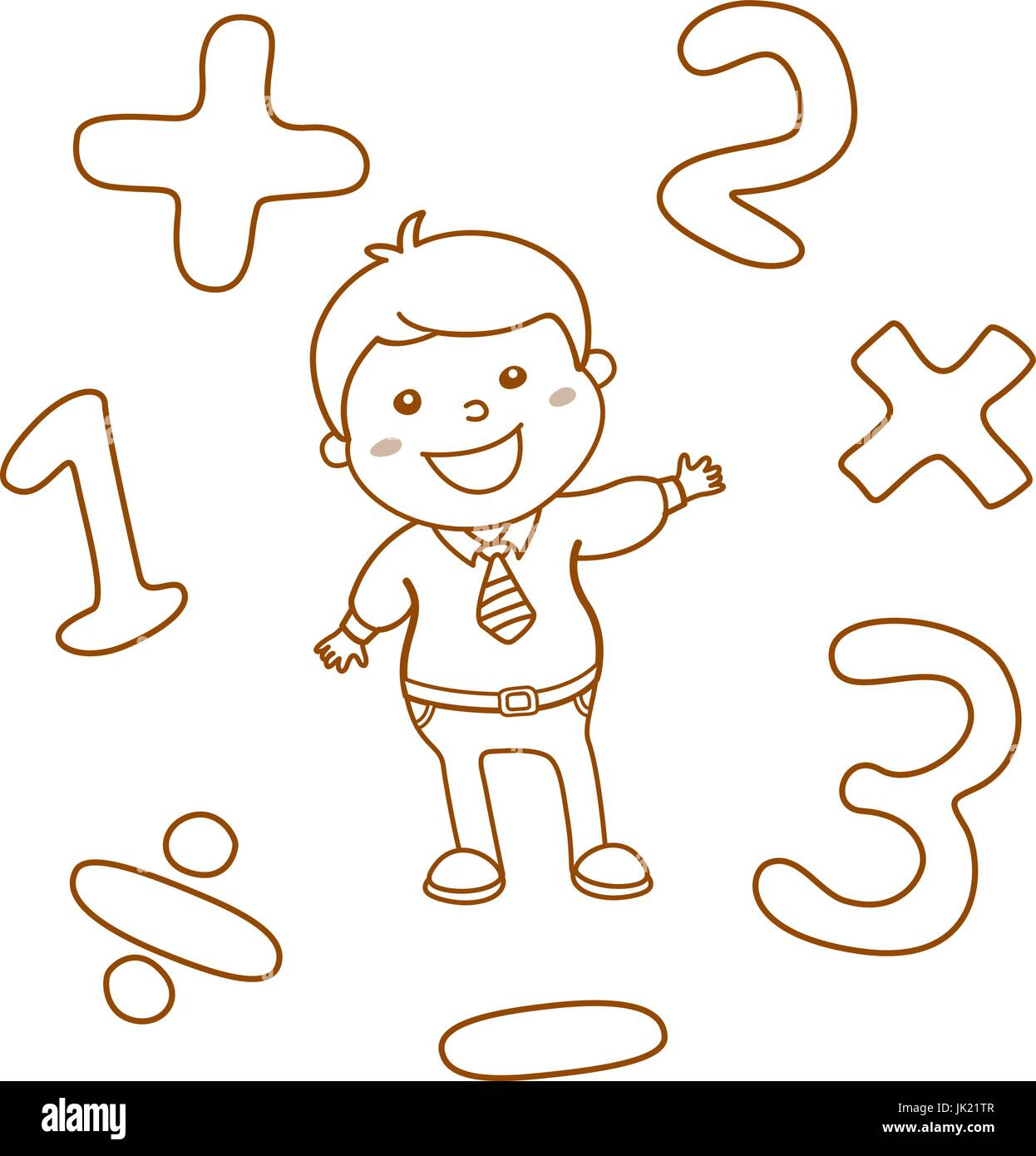 Cartoon Illustration Educational Mathematical Counting Imagenes De