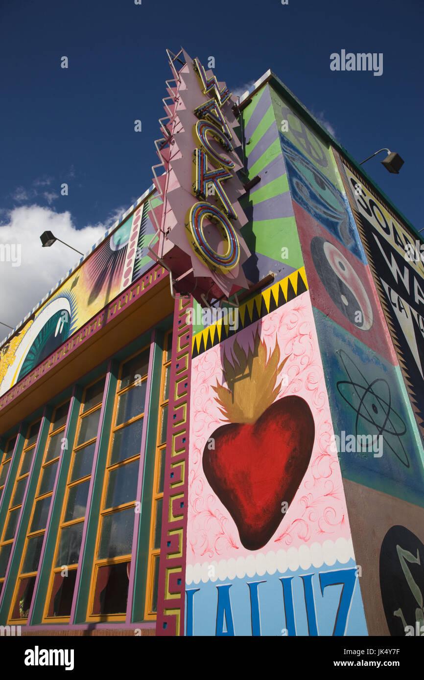 California, Estados Unidos, Los Angeles, Loz Feliz vecindario, la Luz de Jesus Gallery y Wacko shop Imagen De Stock