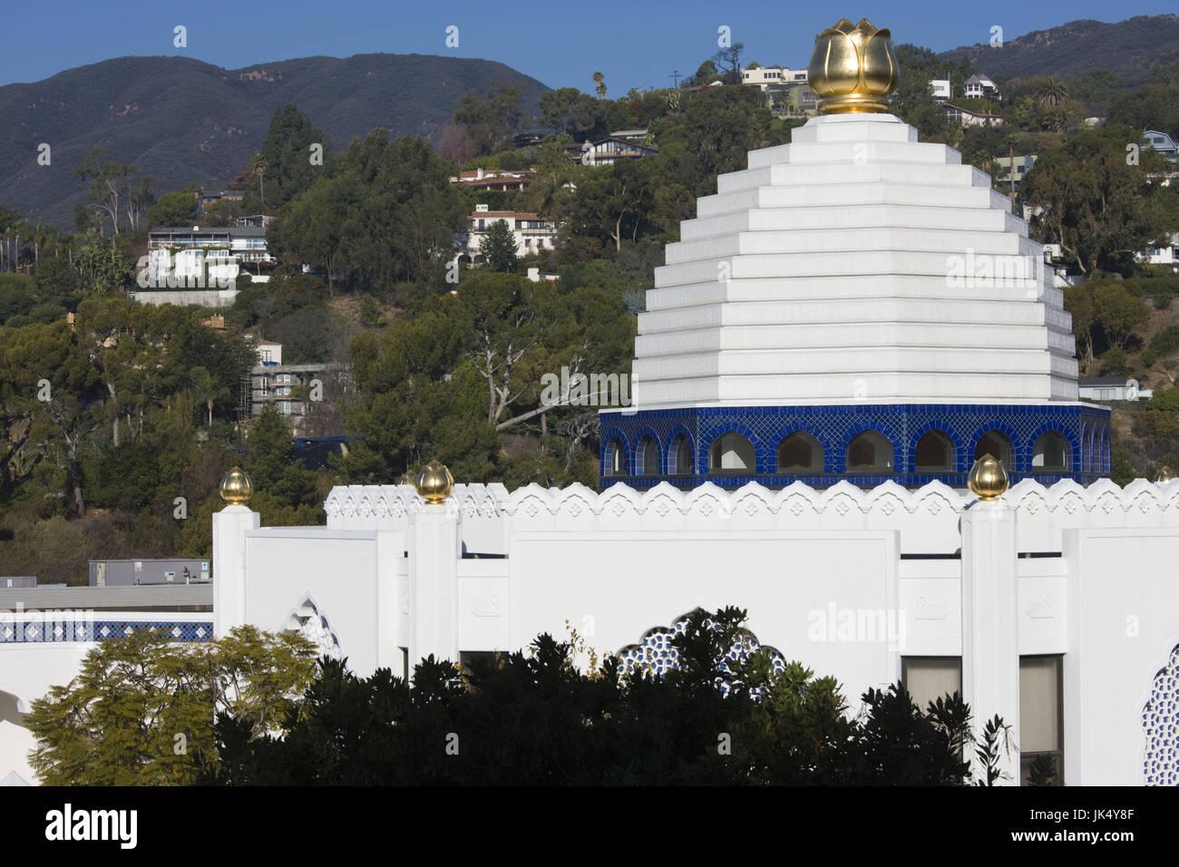 Ee.Uu., California, Los Ángeles, Pacific Palisades, la Autorealizacion Fellowship lago santuario, templo exterior Imagen De Stock