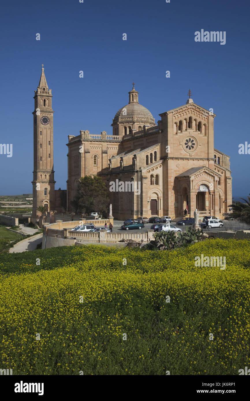 La isla de Malta, Gozo, Gharb, Basílica de Ta-Pinu, exterior, mañana Imagen De Stock