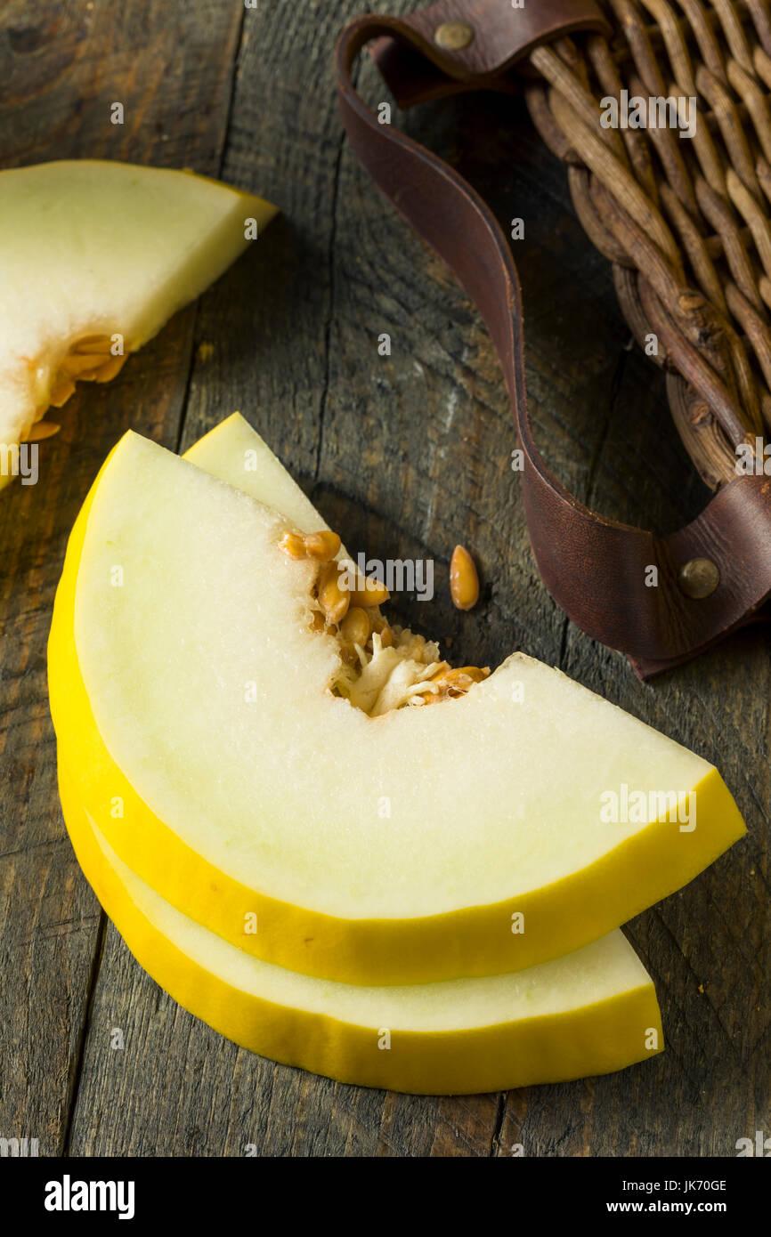 Materias orgánicas Honedew Amarillo Melón listo para comer Imagen De Stock