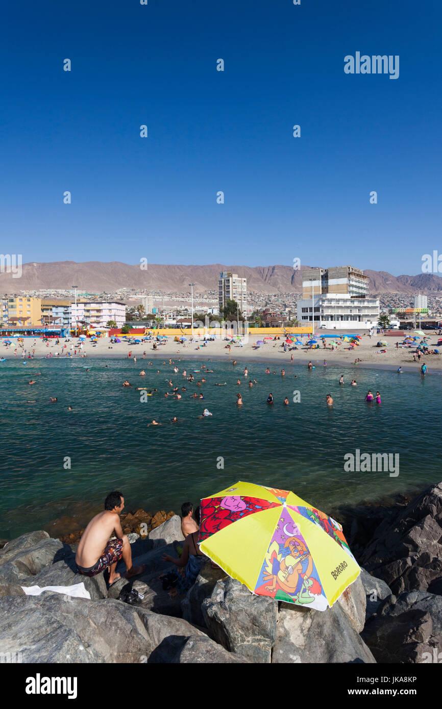 Chile, Antofagasta, Playa Paraiso Beach Imagen De Stock
