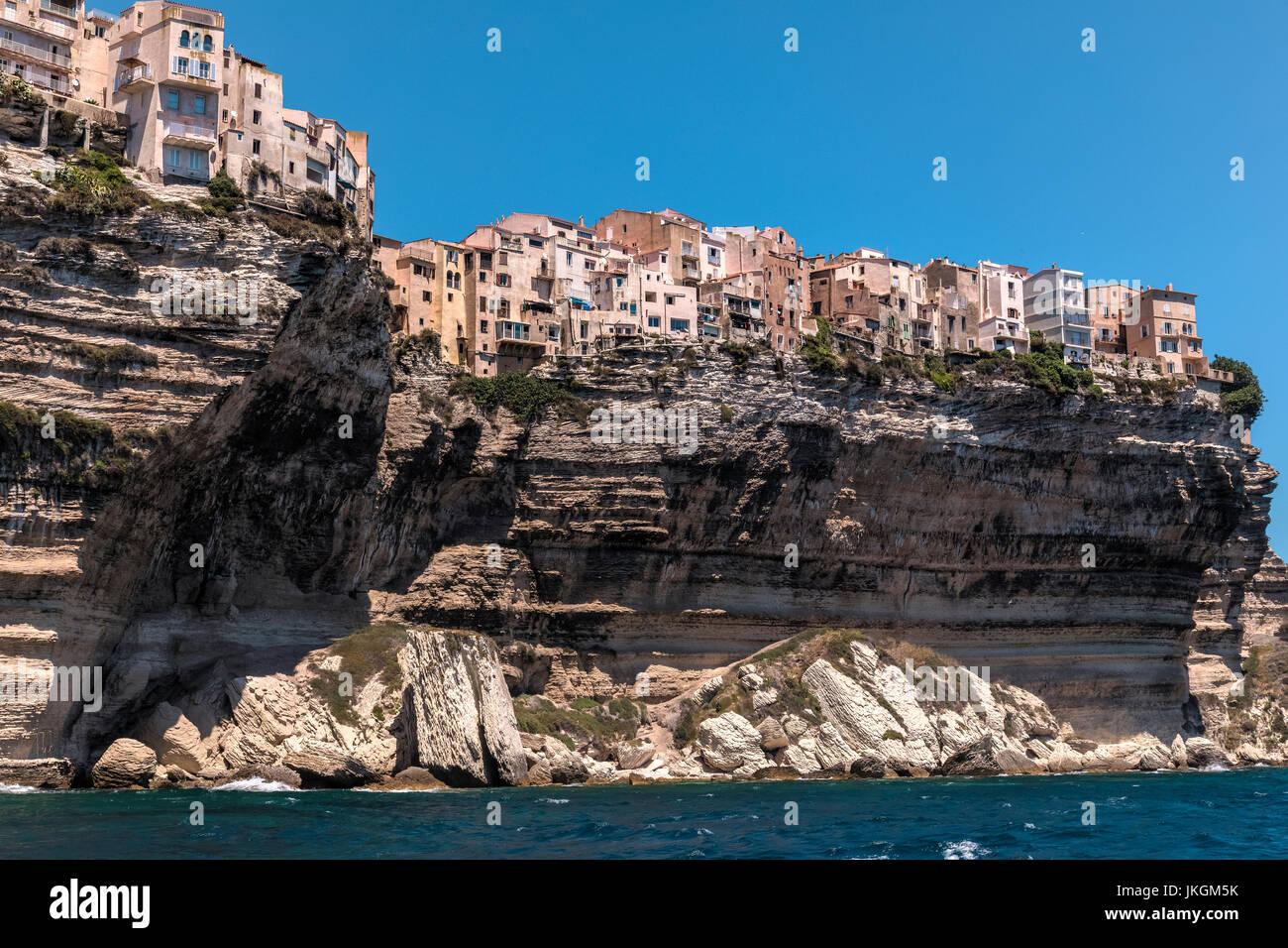 Ville Haute, Bonifacio, Córcega, Francia Foto de stock