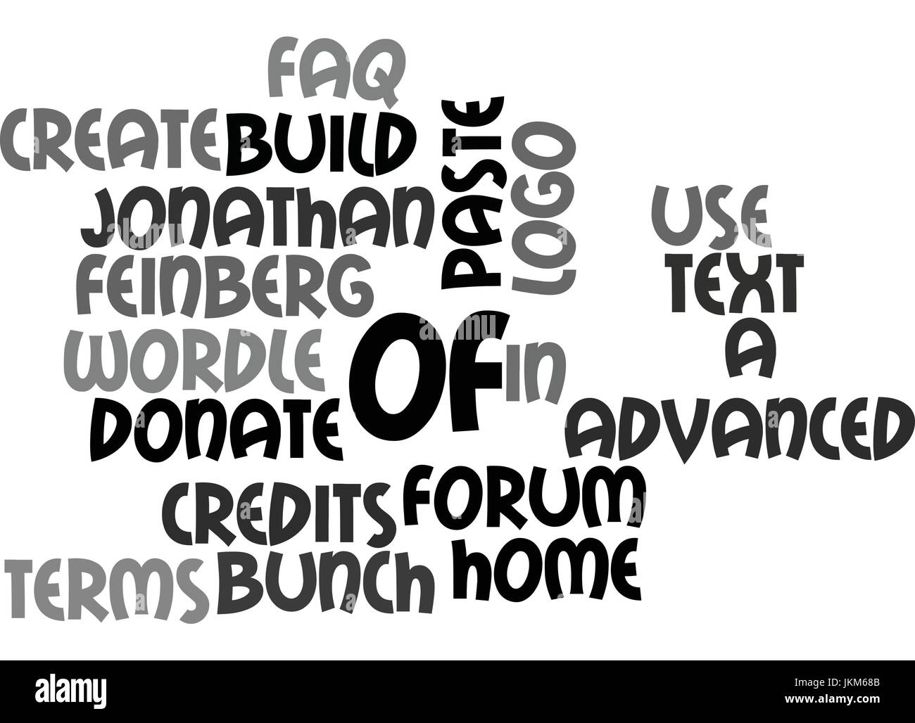 Es bueno ser GOOFY fondo de texto Word concepto cloud Ilustración del Vector