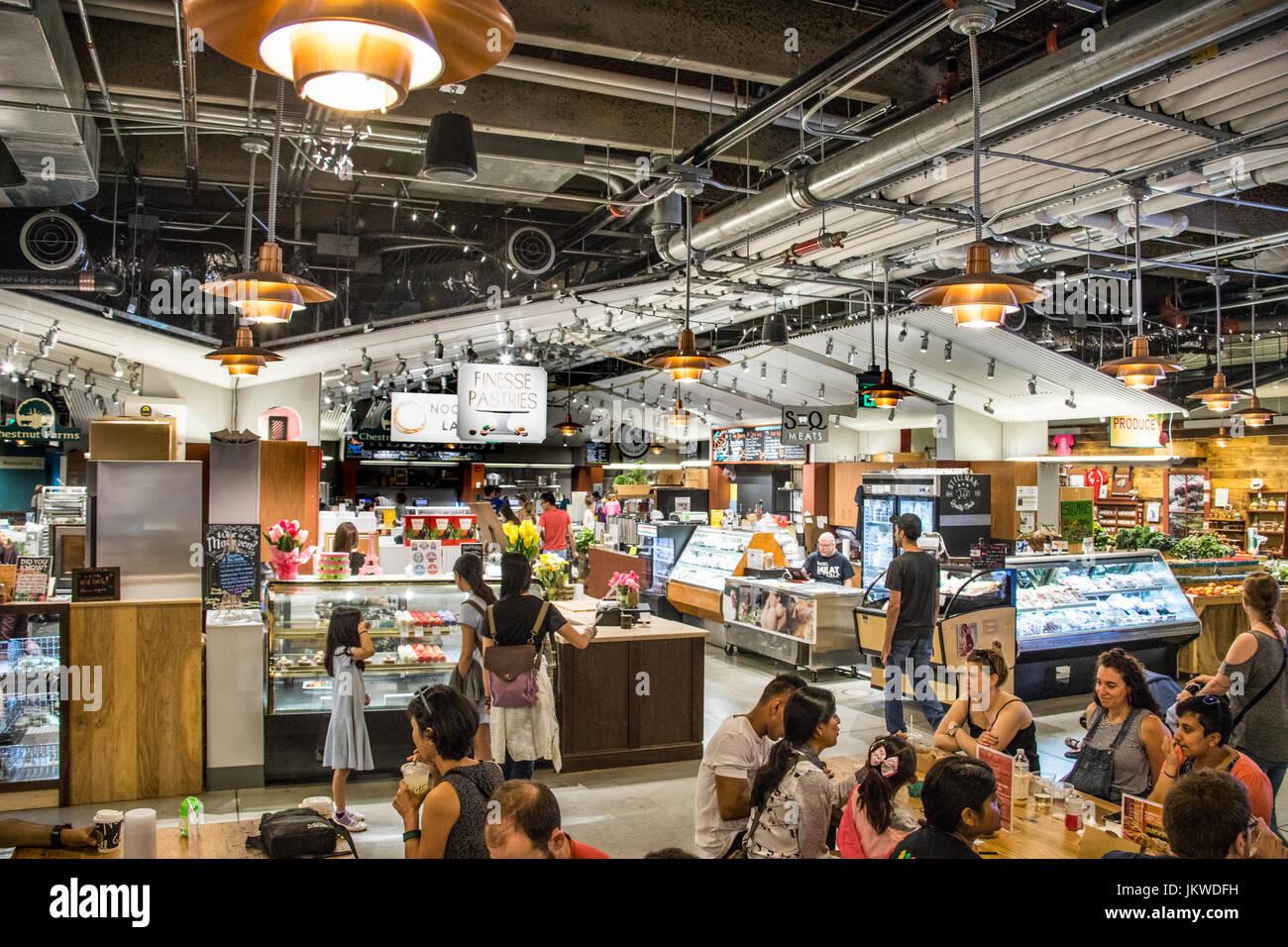 Dentro del mercado público de Boston, Boston, MA, EE.UU. Imagen De Stock