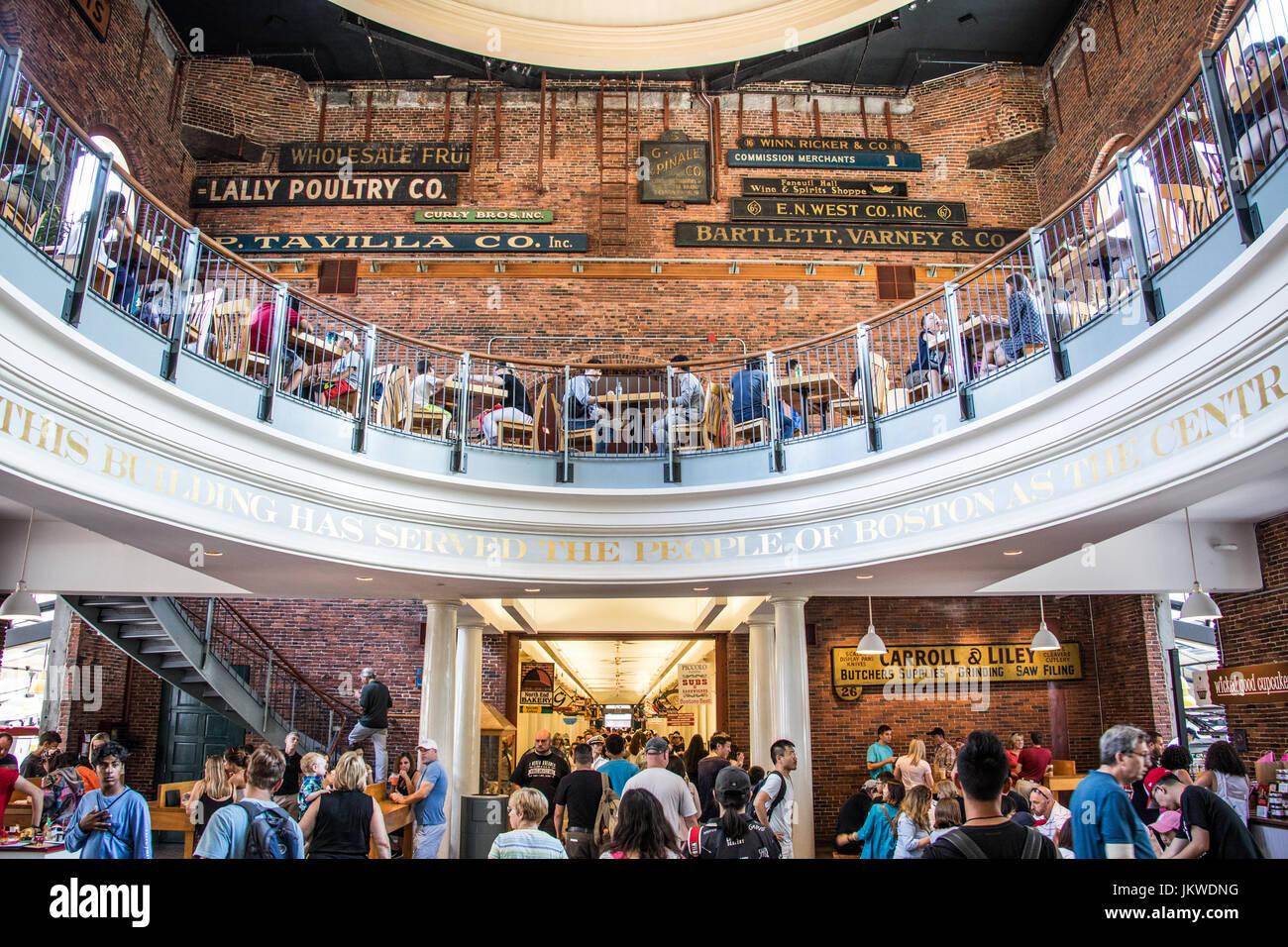 Mercado de Quincy, Boston, MA, EE.UU. Imagen De Stock