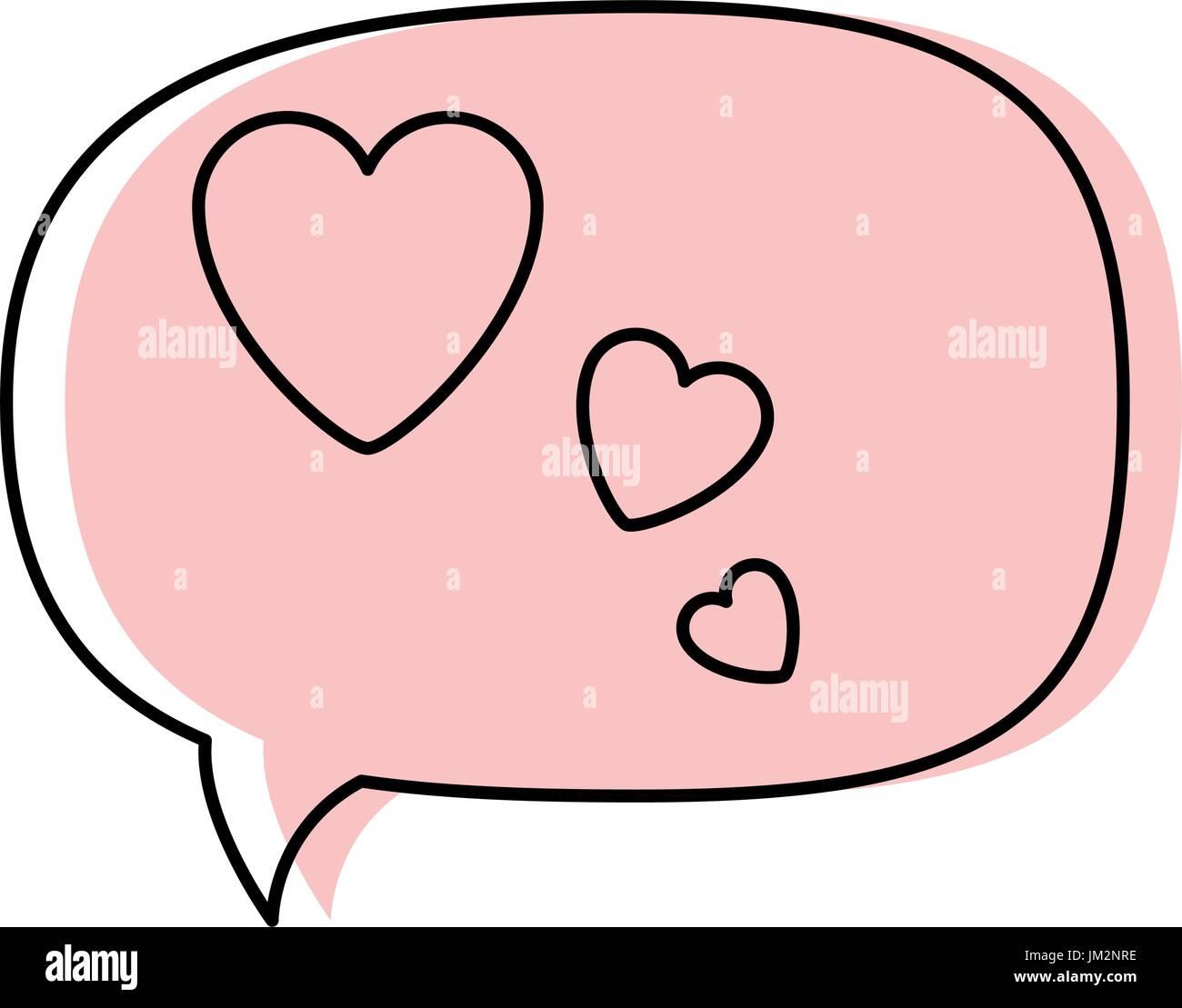 Amor pensamiento discurso bubble icon ilustración vectorial diseño gráfico Ilustración del Vector