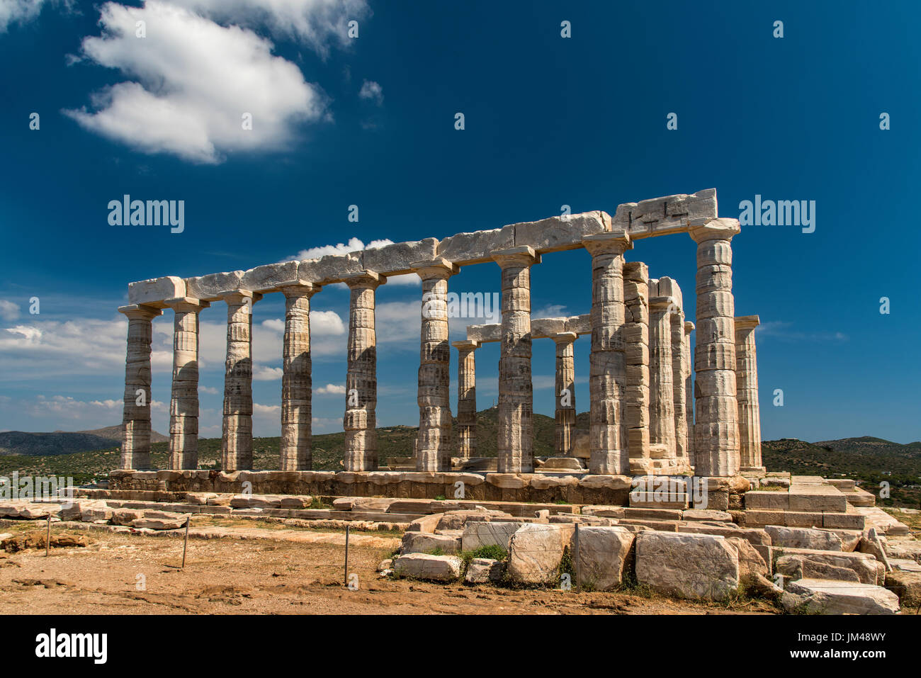Templo de Poseidón, Cabo de Sounion, Attica, Grecia Imagen De Stock