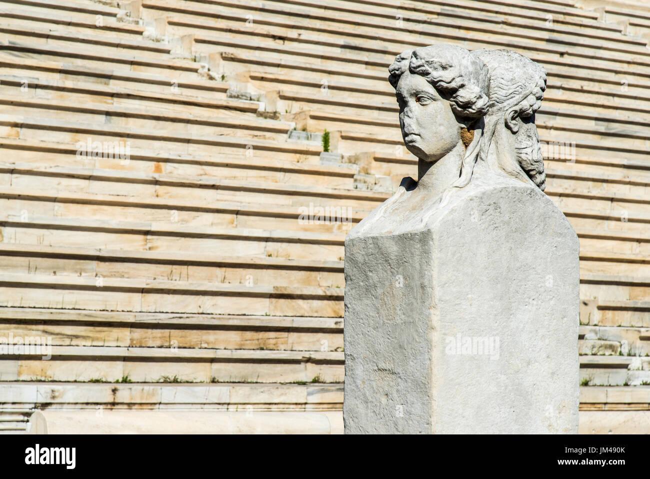 Estadio Panathenaic, Atenas, Attica, Grecia Imagen De Stock