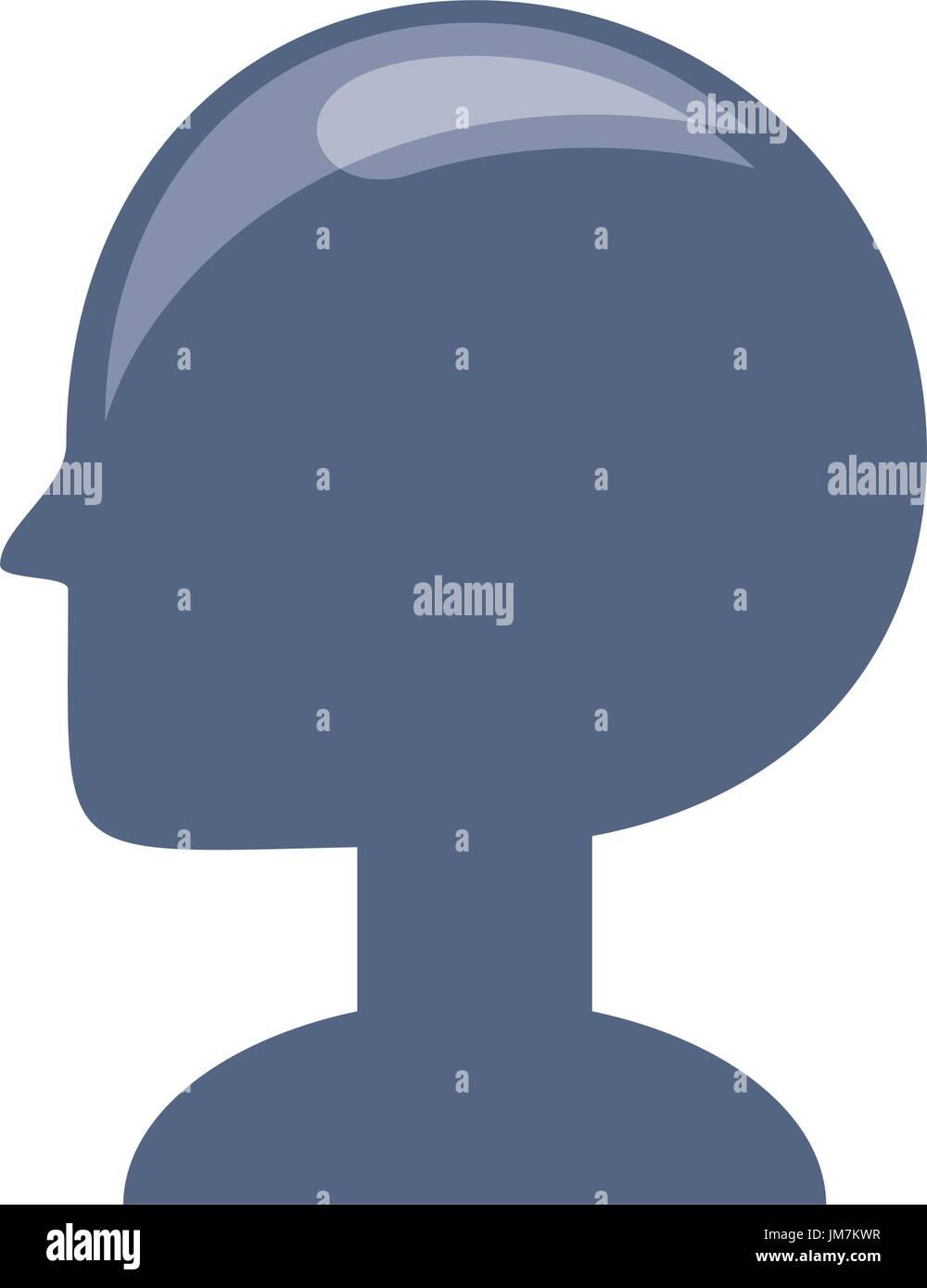 Cabeza humana silueta Imagen De Stock