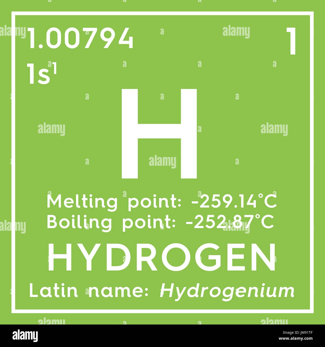 El hidrgeno otros no metales elemento qumico de la tabla otros no metales elemento qumico de la tabla peridica de mendeleyev el hidrgeno en square cube concepto creativo urtaz Images
