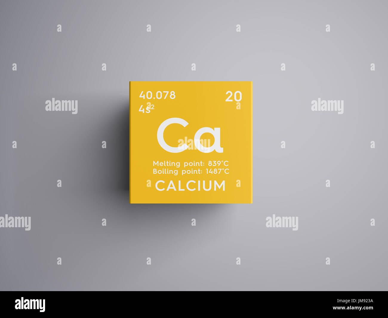 El calcio metales de tierras alcalinas elemento qumico de la elemento qumico de la tabla peridica de mendeleyev calcio en square cube concepto creativoel calcio metales alcalinoterreos urtaz Image collections