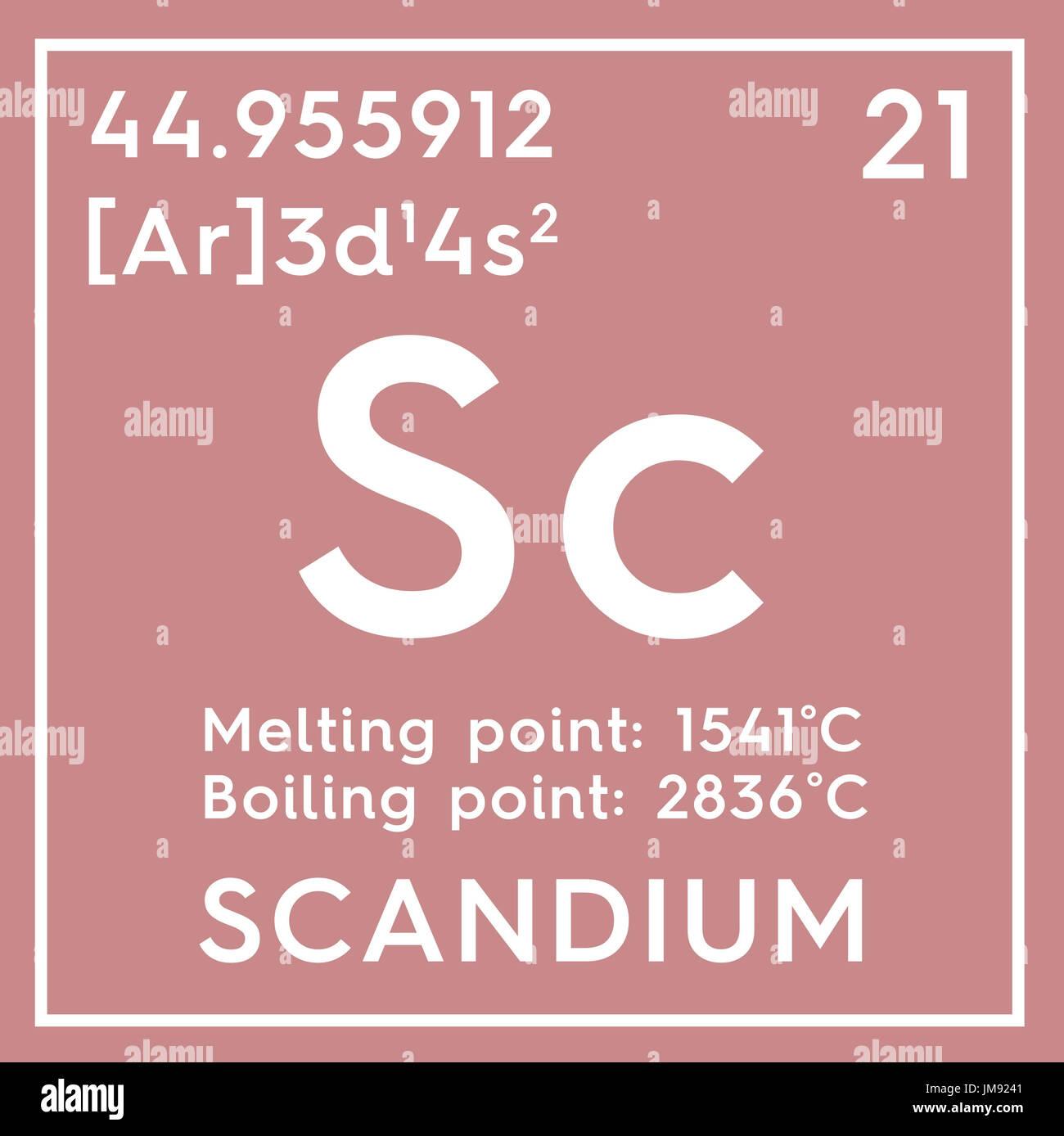 Escandio los metales de transicin elemento qumico de la tabla escandio los metales de transicin elemento qumico de la tabla peridica de mendeleyev en el escandio square cube concepto creativo urtaz Choice Image