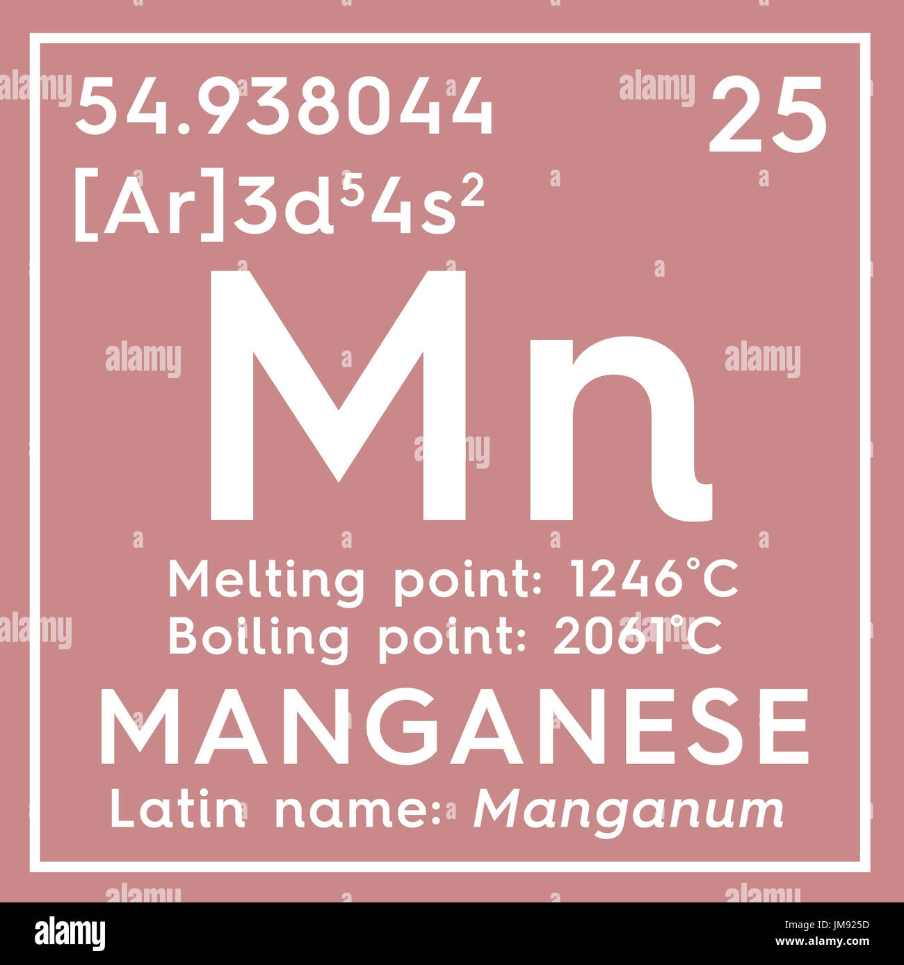 El manganeso manganum los metales de transicin elemento los metales de transicin elemento qumico de la tabla peridica de mendeleyev el manganeso en square cube concepto creativo urtaz Choice Image