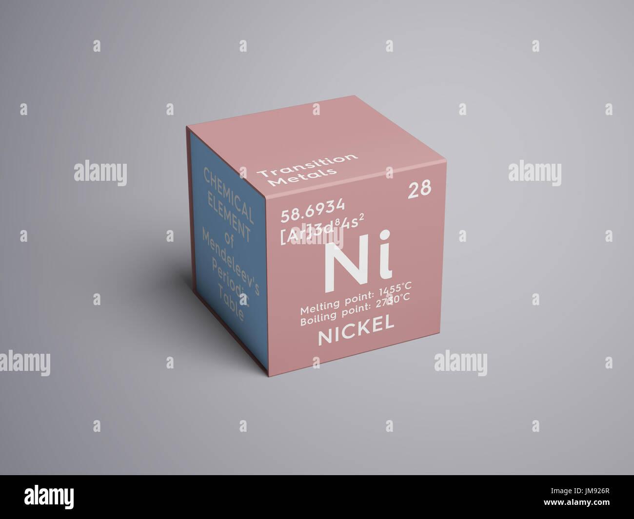 El nquel los metales de transicin elemento qumico de la tabla el nquel los metales de transicin elemento qumico de la tabla peridica de mendeleyev nquel en square cube concepto creativo urtaz Choice Image