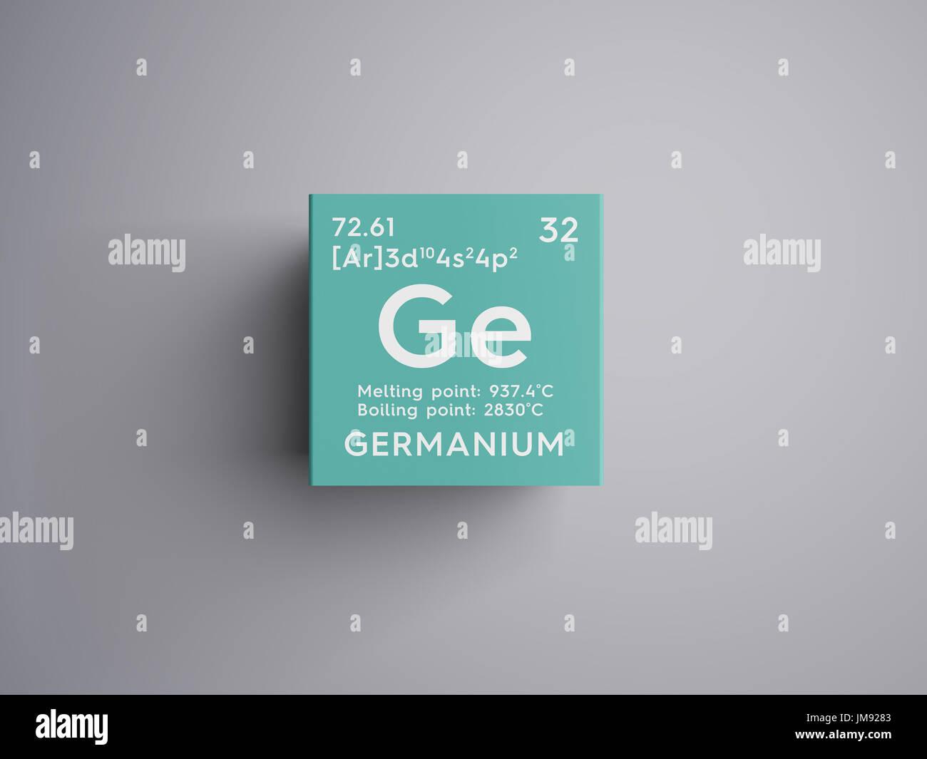 Germanio los metaloides elemento qumico de la tabla peridica de germanio los metaloides elemento qumico de la tabla peridica de mendeleyev germanio en square cube concepto creativo urtaz Gallery