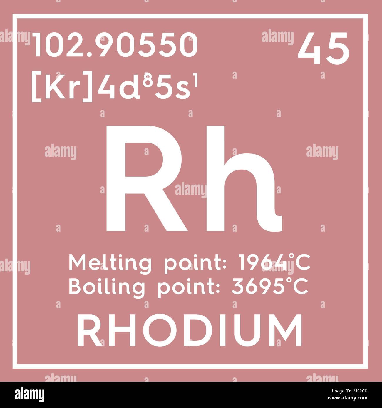 El rodio los metales de transicin elemento qumico de la tabla los metales de transicin elemento qumico de la tabla peridica de mendeleyev rodio en square cube concepto creativo urtaz Images