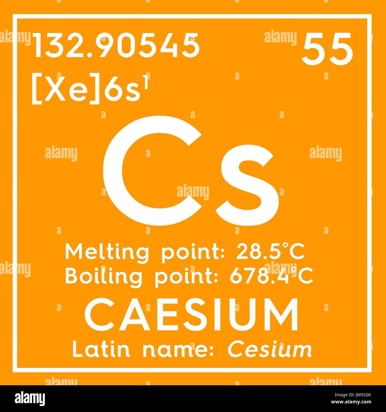 Cesio el cesio metales alcalinos elemento qumico de la tabla metales alcalinos elemento qumico de la tabla peridica de mendeleyev cesio en square cube concepto creativo urtaz Image collections