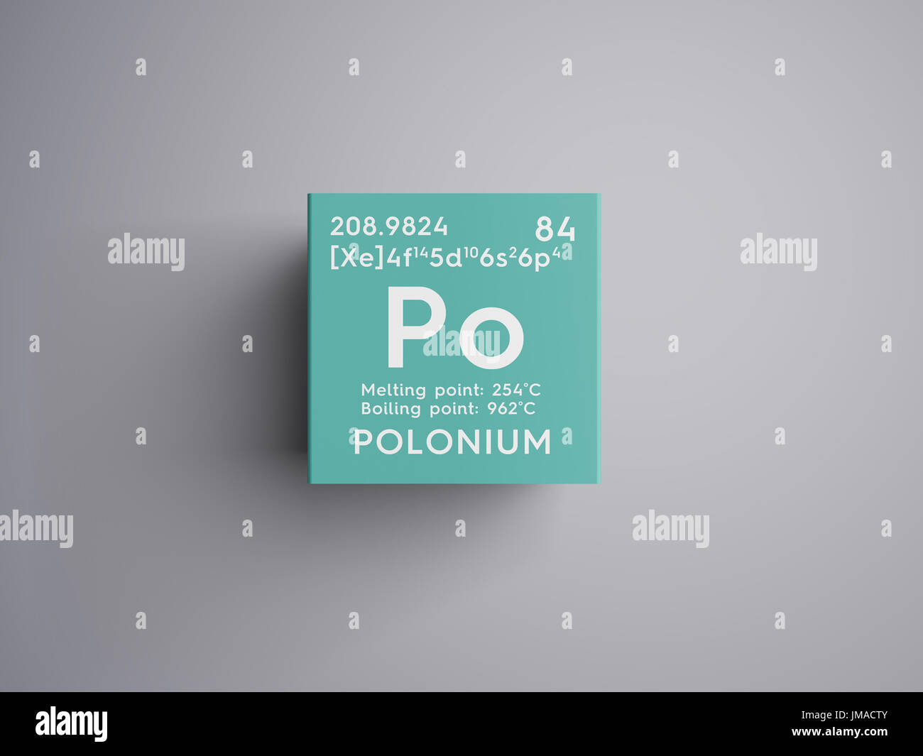 Polonio los metaloides elemento qumico de la tabla peridica de los metaloides elemento qumico de la tabla peridica de mendeleyev polonio en square cube concepto creativo urtaz Images