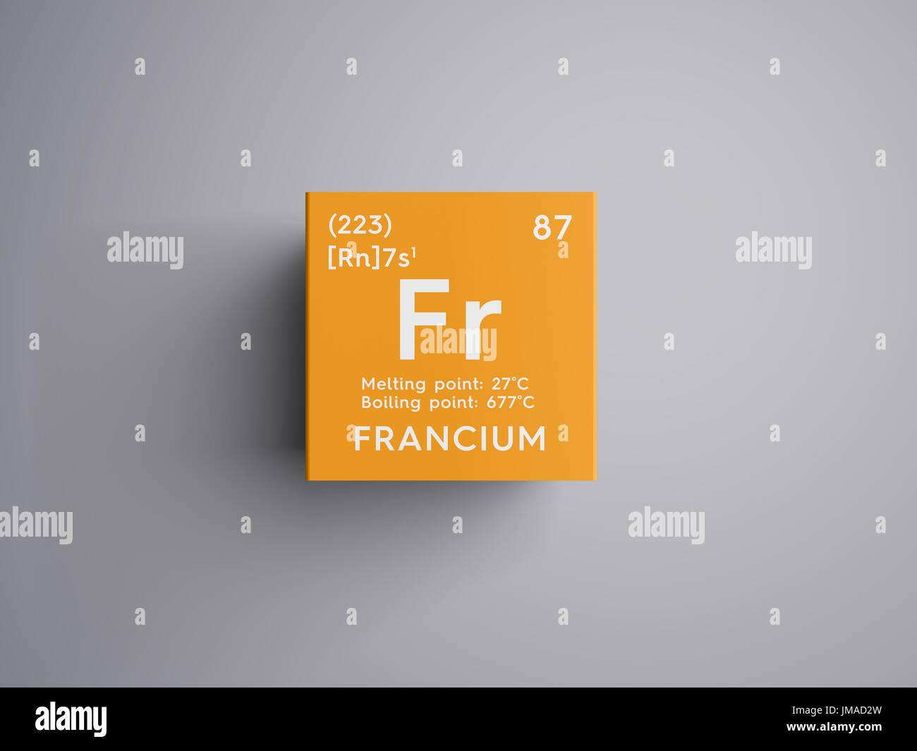 Francio metales alcalinos elemento qumico de la tabla peridica francio metales alcalinos elemento qumico de la tabla peridica de mendeleyev francio en square cube concepto creativo urtaz Choice Image