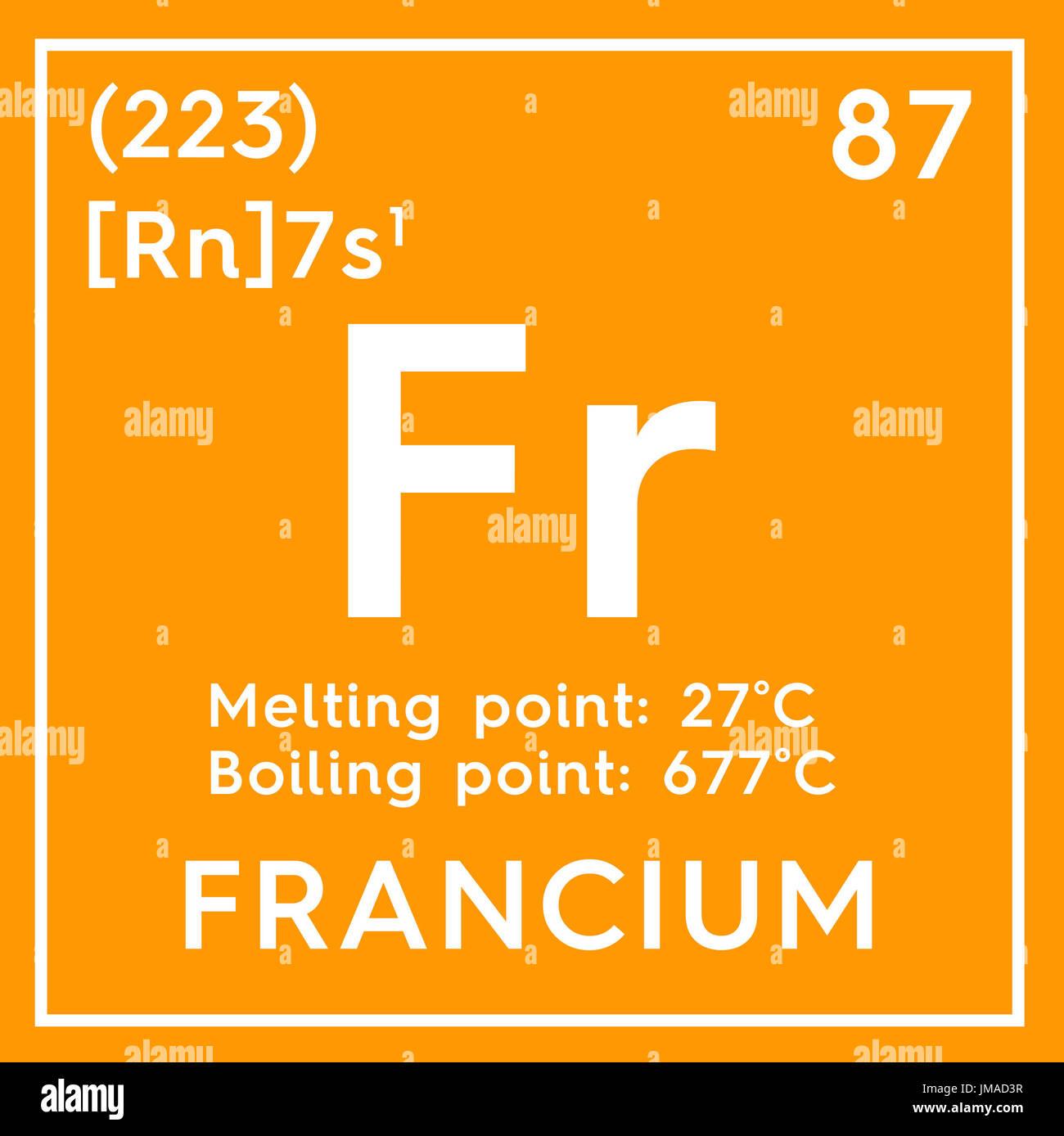 Francio metales alcalinos elemento qumico de la tabla peridica francio metales alcalinos elemento qumico de la tabla peridica de mendeleyev francio en square cube concepto creativo urtaz Image collections