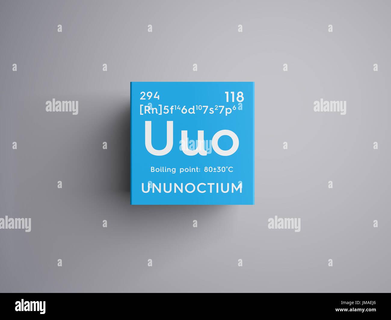 Ununoctium los gases nobles elemento qumico de la tabla peridica los gases nobles elemento qumico de la tabla peridica de mendeleyev en ununoctium square cube concepto creativo urtaz Image collections