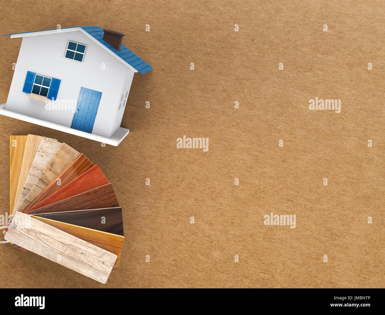 Guia De Color Madera Con Casa De Maquetas Para Decoracion Casa Foto
