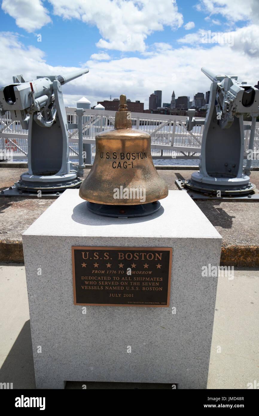 Uss boston cag-1 buques bell Charlestown Navy Yard en Boston, EE.UU. Imagen De Stock