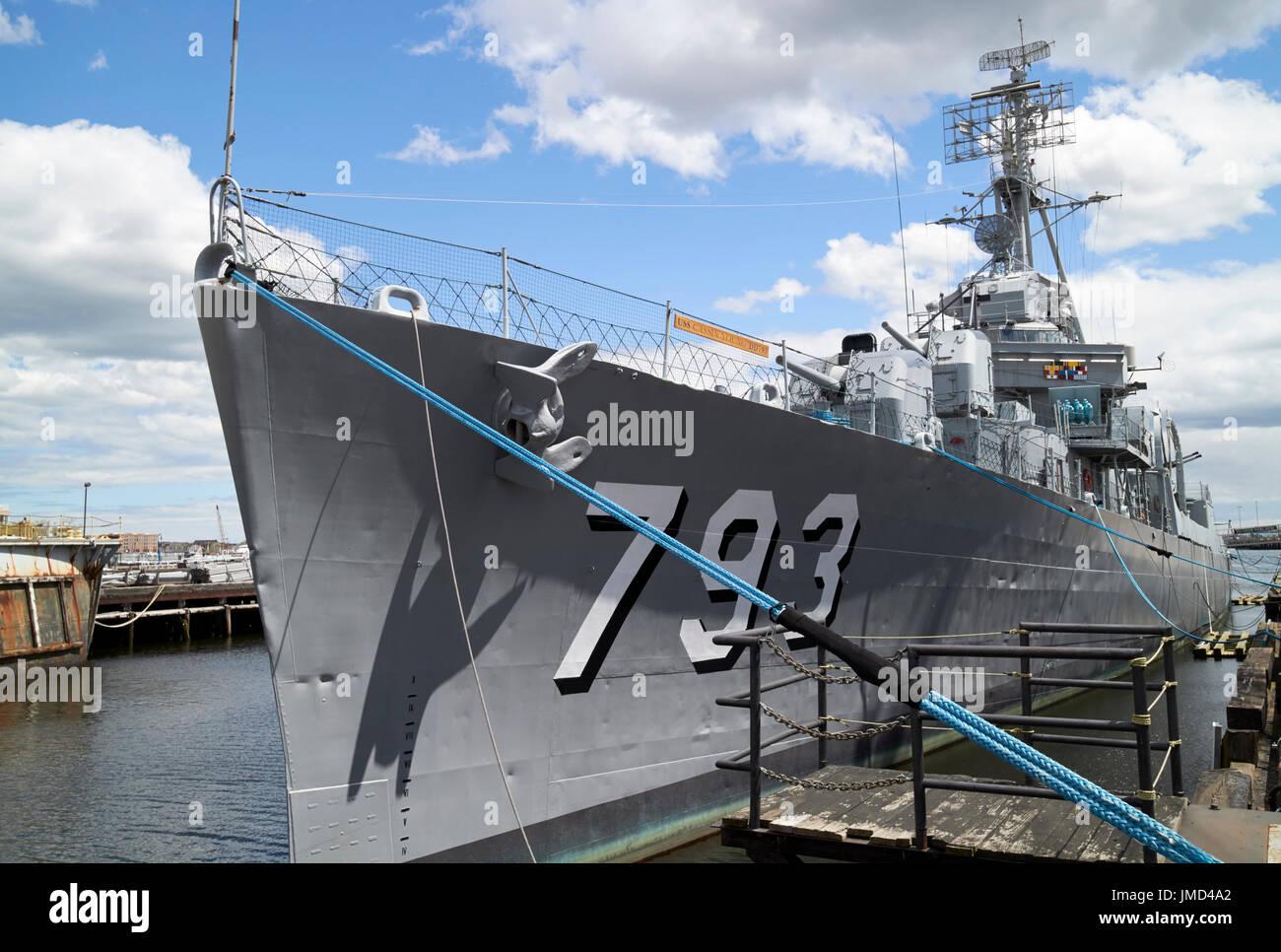 Uss cassin young en Charlestown Navy Yard Boston, EE.UU. Imagen De Stock