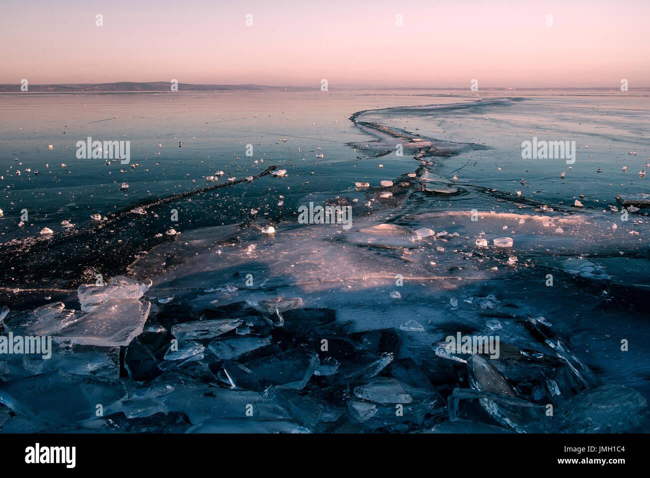 Lago helado Imagen De Stock