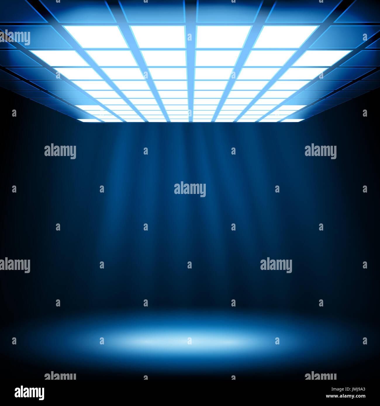 La luz azul de fondo abstracto. Vector eps10 ilustración Imagen De Stock