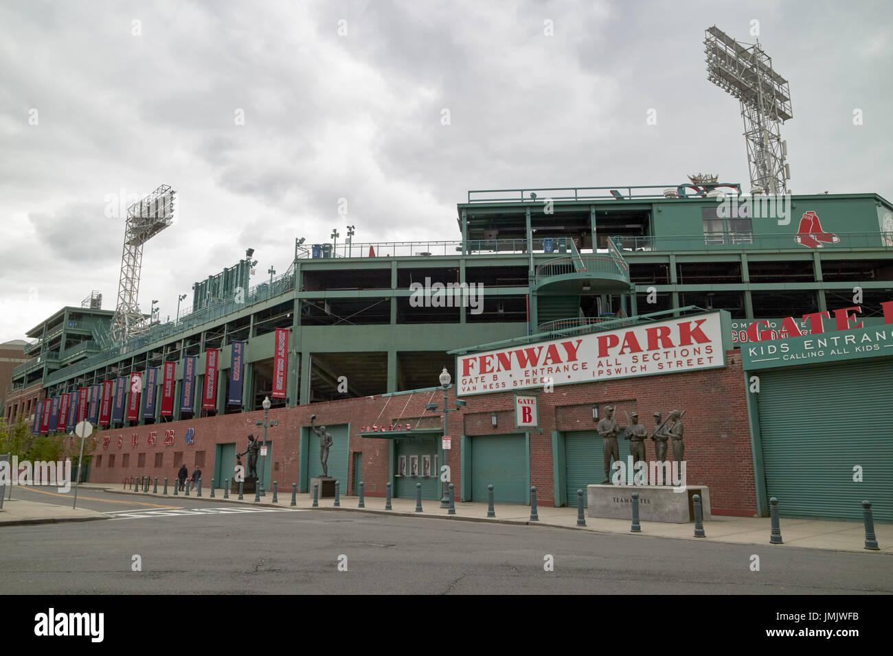 Fenway Park, hogar de los Boston Redsox EE.UU. Imagen De Stock