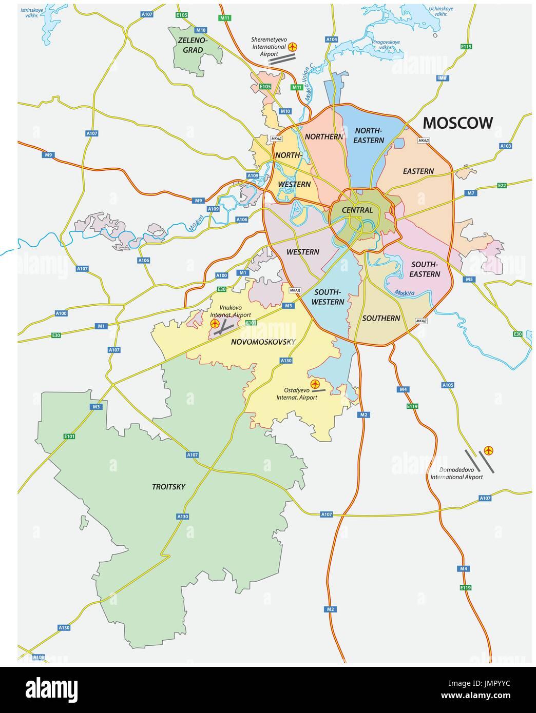 Politica Y Administrativa Y El Mapa De Carreteras De La Capital