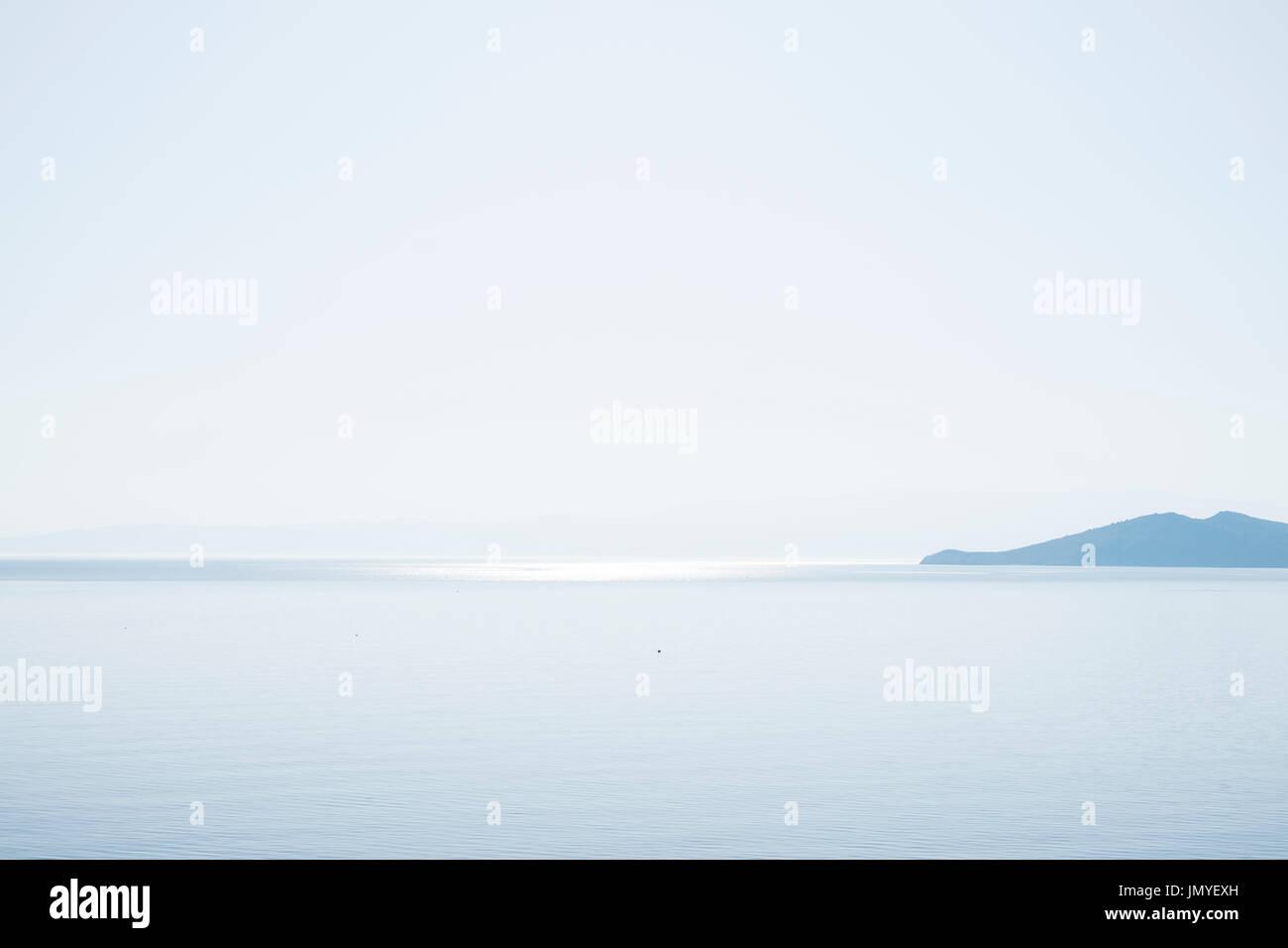 Las tranquilas aguas del mar Egeo. Grecia Imagen De Stock