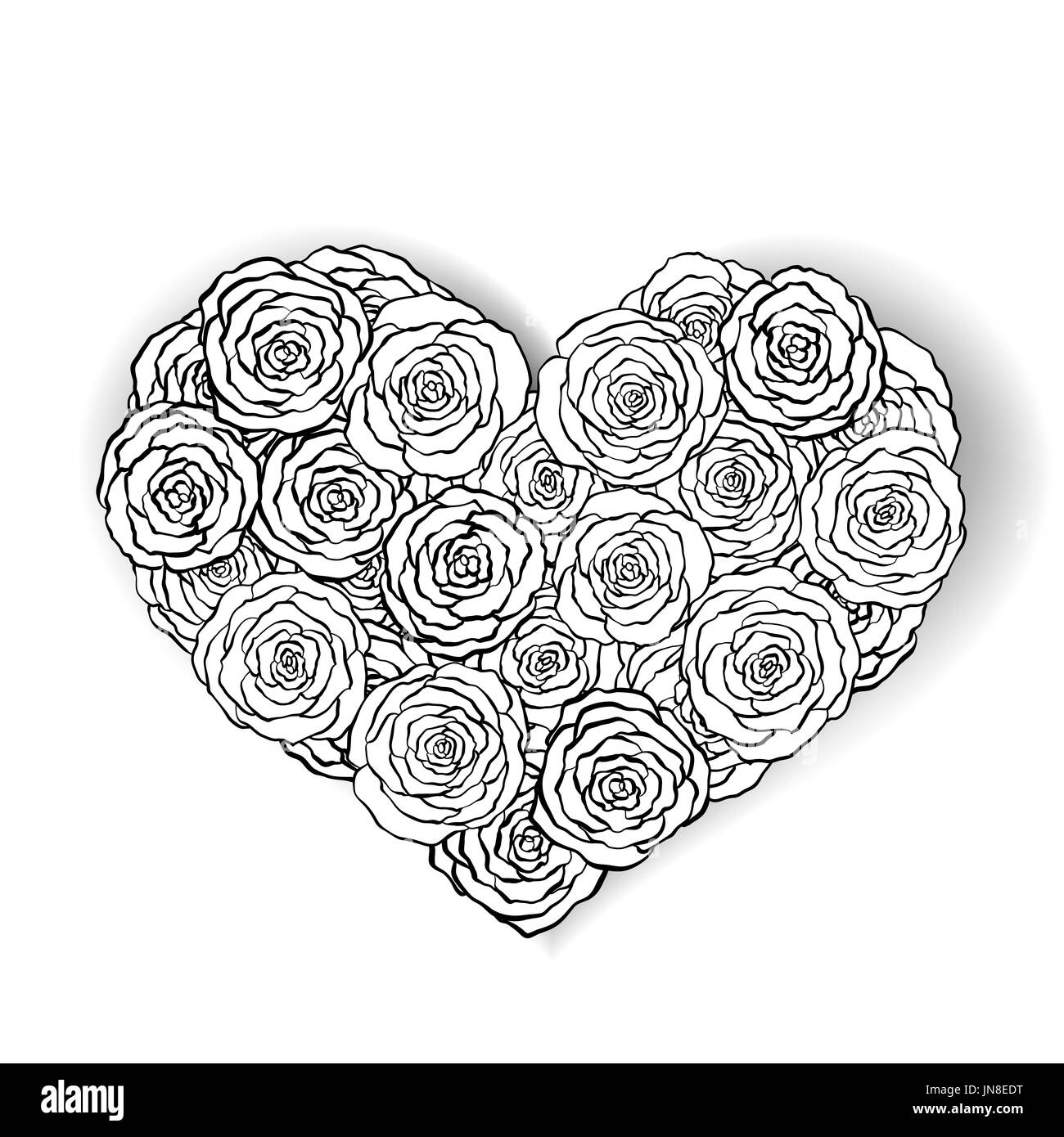 La Línea Rosa Ilustración Con Forma De Corazón Ideal Para