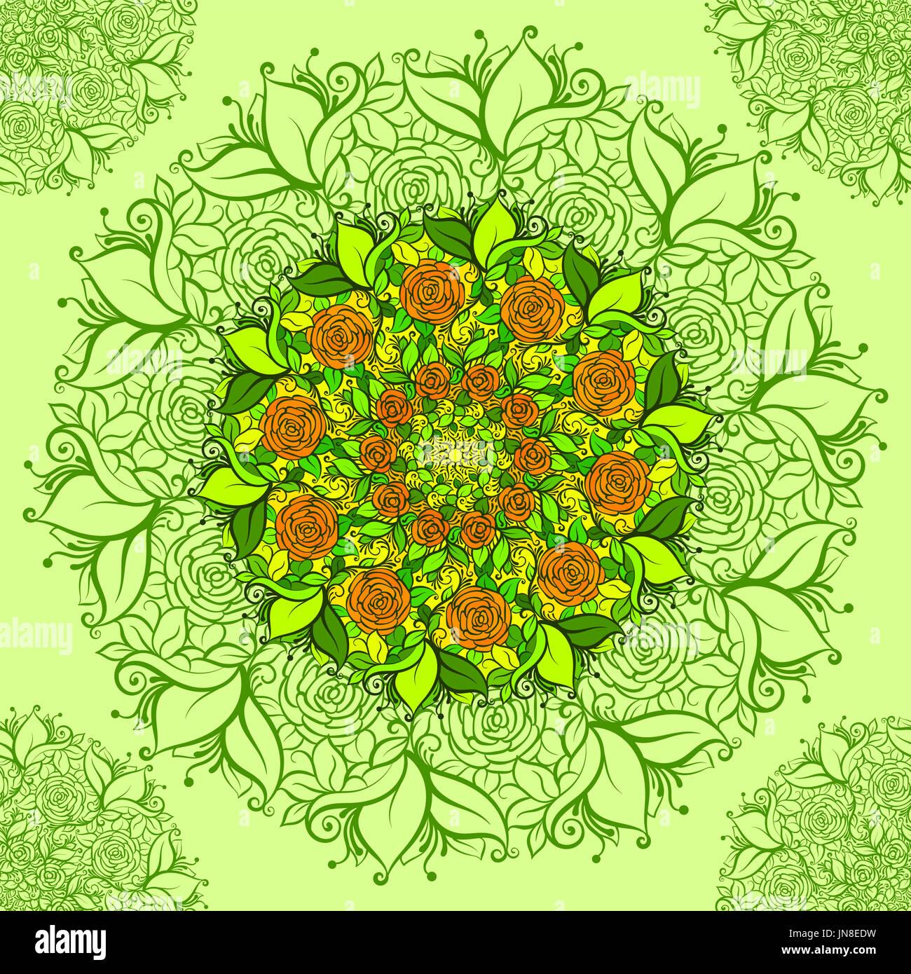 Outline Boho Flower Imágenes De Stock & Outline Boho Flower Fotos De ...