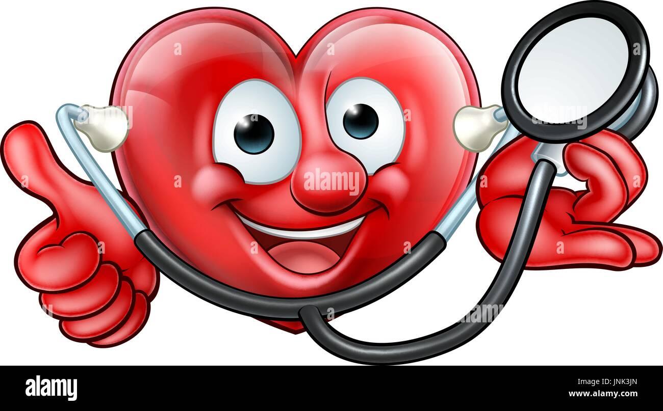 Estetoscopio Corazón Personaje De Dibujos Animados