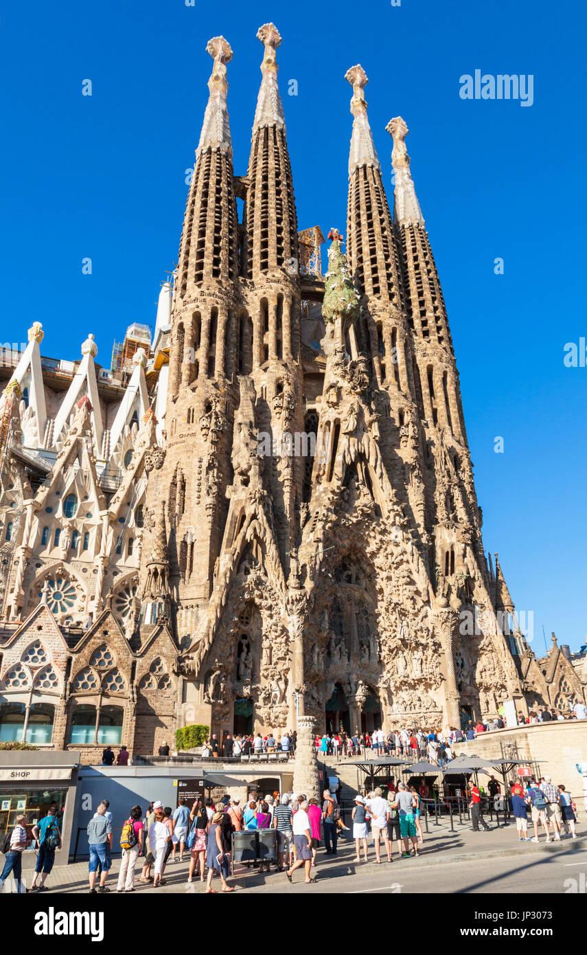 España Barcelona España Barcelona Antoni Gaudí, La Sagrada Familia Barcelona la catedral de la Sagrada Familia de Barcelona cataluña catalunya España Europa ue Imagen De Stock