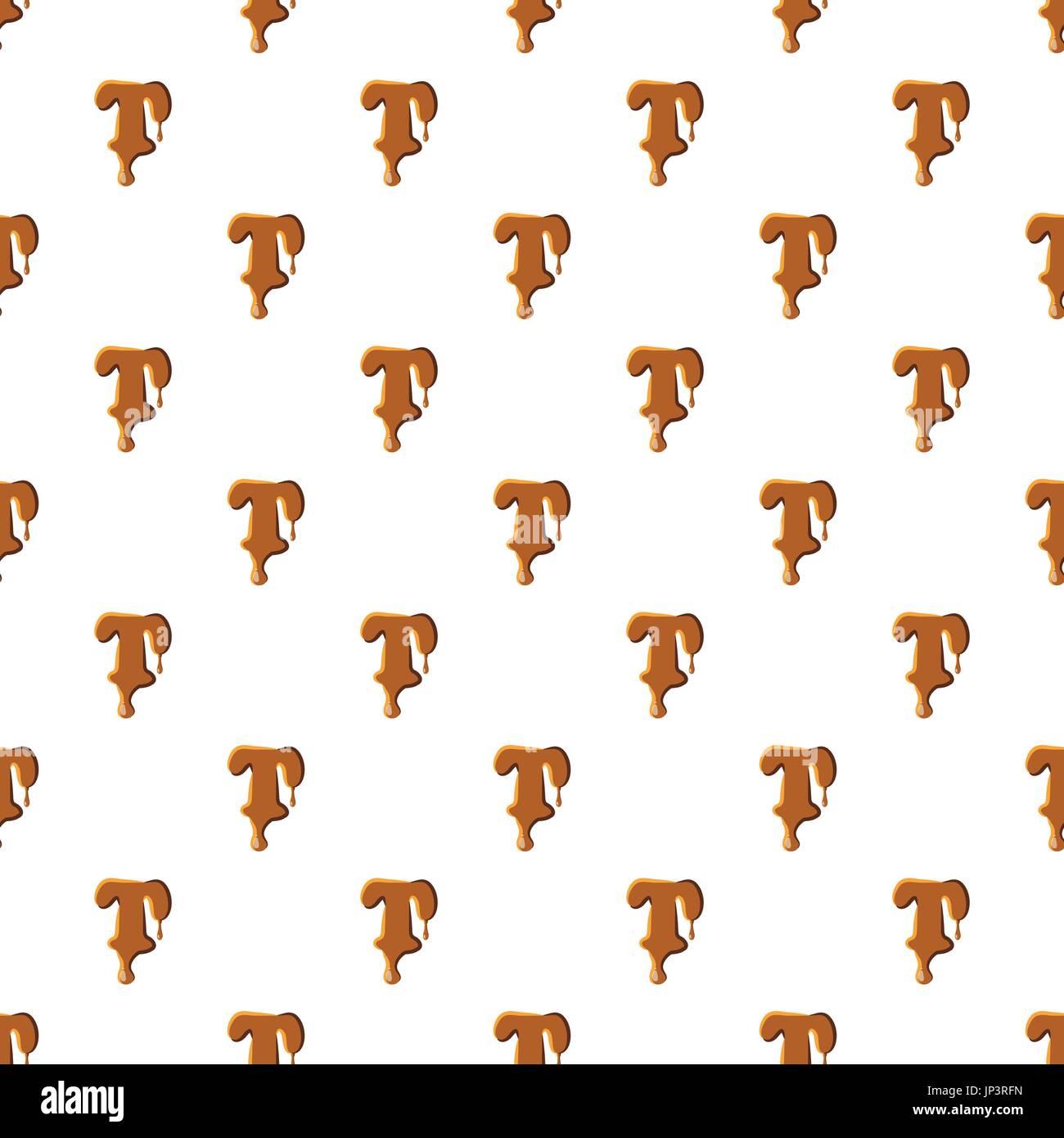 Letra T Desde El Caramelo Patrón Repetir En Perfecta Ilustración
