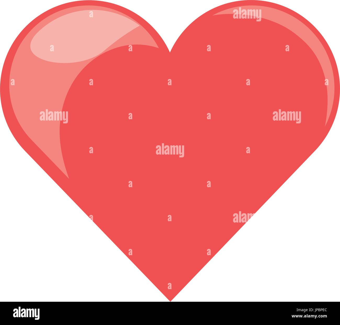 El símbolo del corazón humano Imagen De Stock