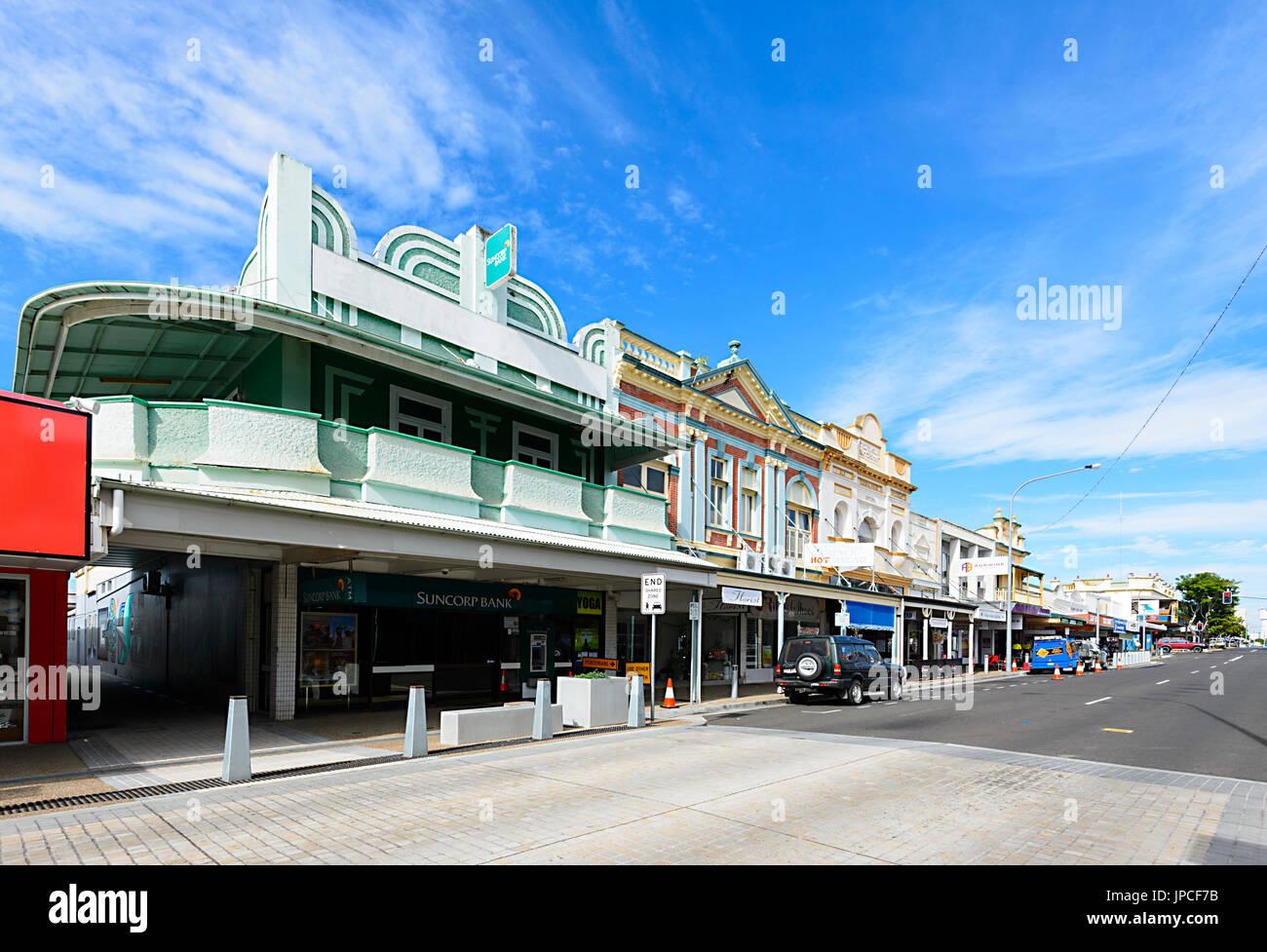 Centro de la ciudad, Adelaide Street, Maryborough, Queensland, Queensland, Australia Imagen De Stock
