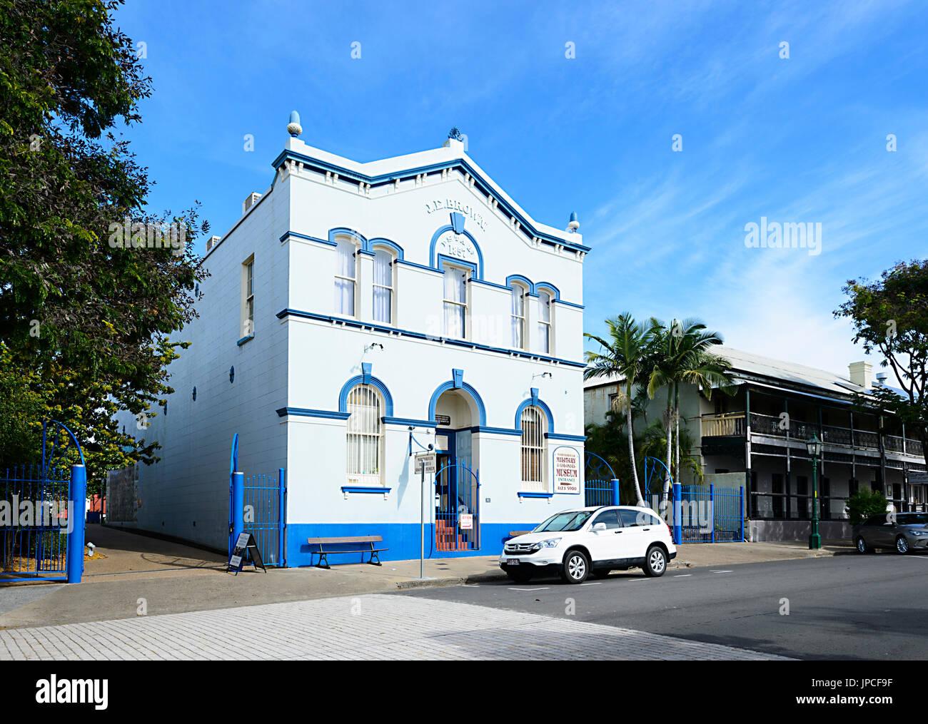 Museo Colonial y militar en Maryborough Precinct, Patrimonio de Queensland, Queensland, Australia Foto de stock