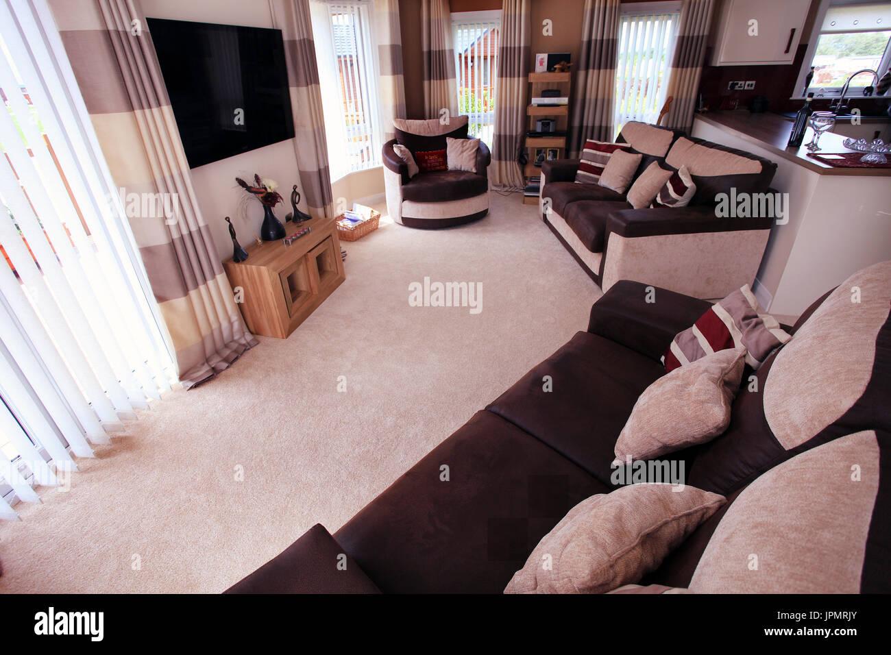 Salón, comedor moderno diseño interior, muebles para el ...
