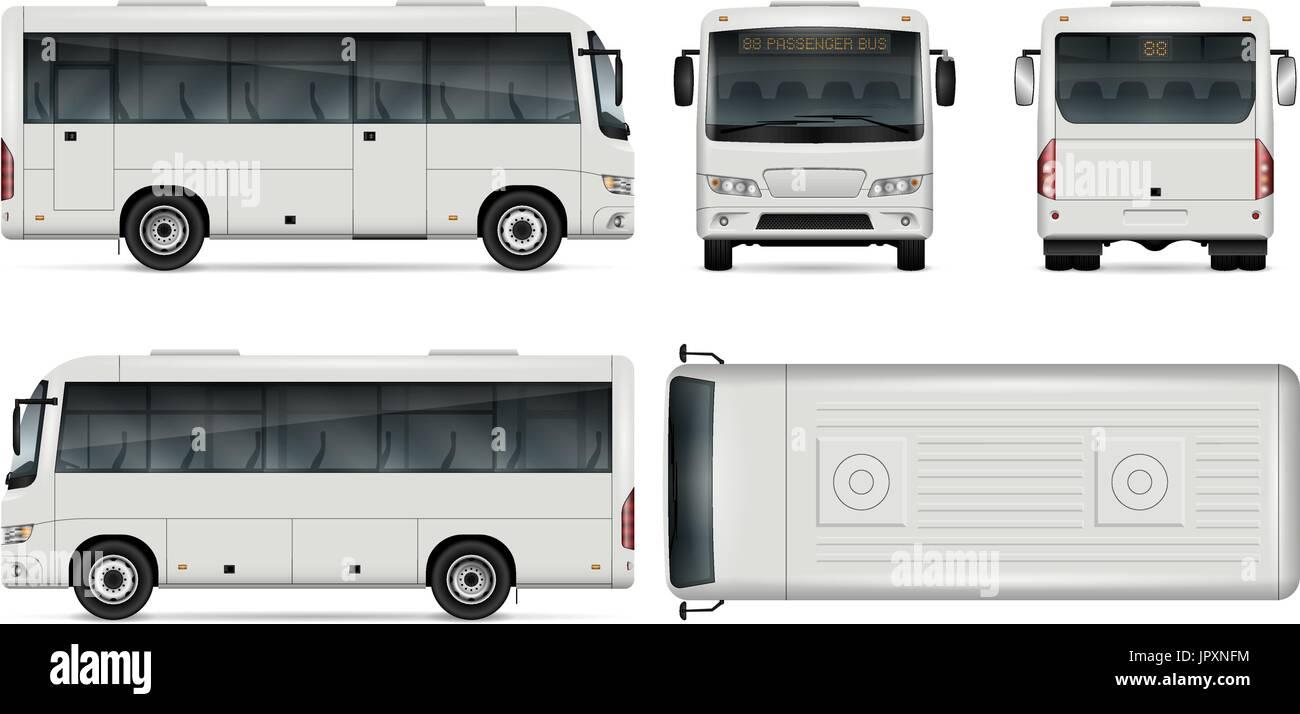 Minibus plantilla vectorial para coches de marca y publicidad ...