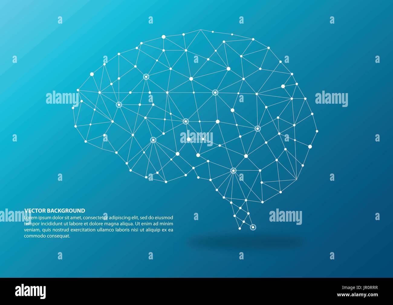 Concepto de cartografía cerebral ilustración Imagen De Stock