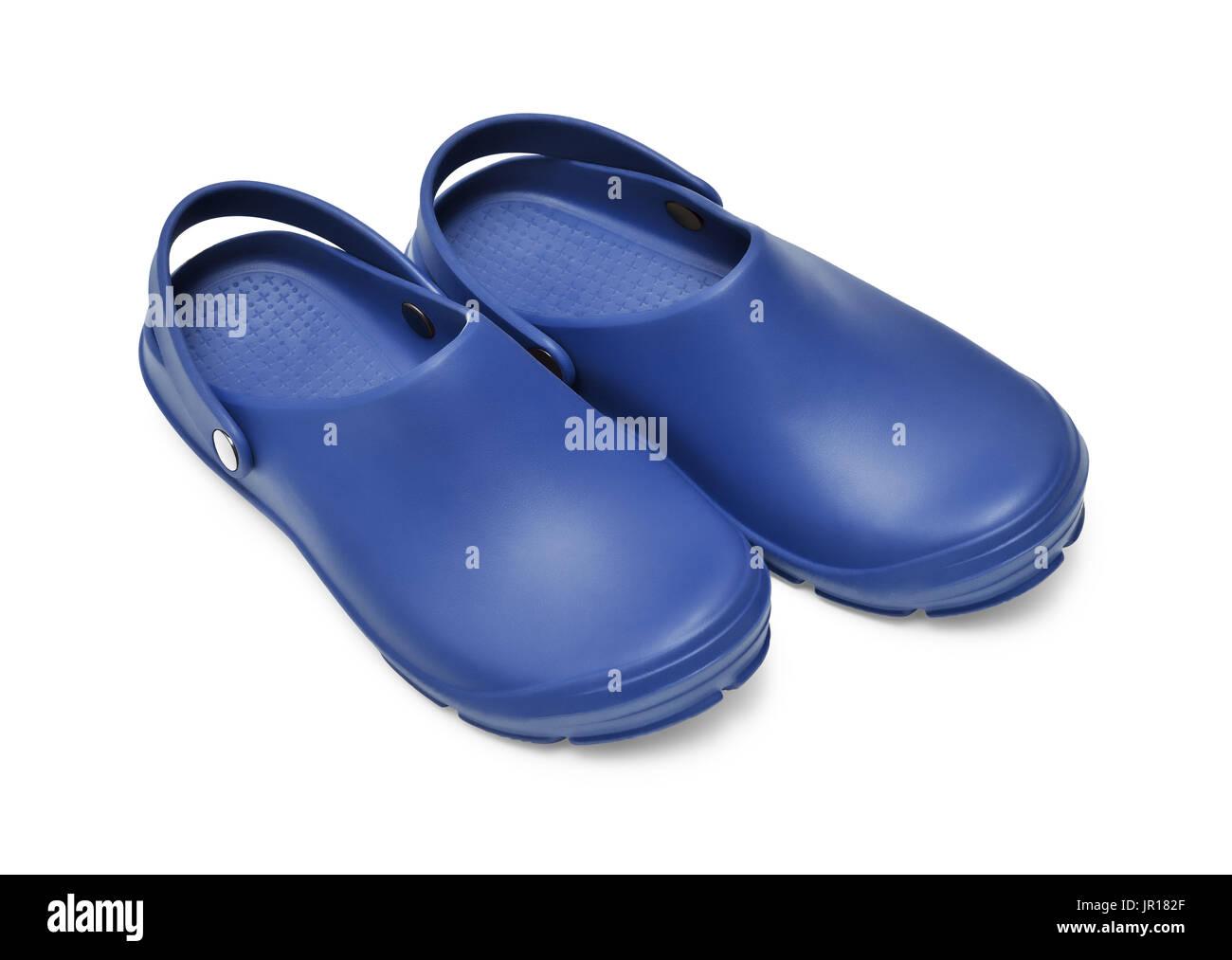 selección premium f4ea6 dc4c8 Los zapatos Crocs. Un par de zuecos de color azul oscuro ...