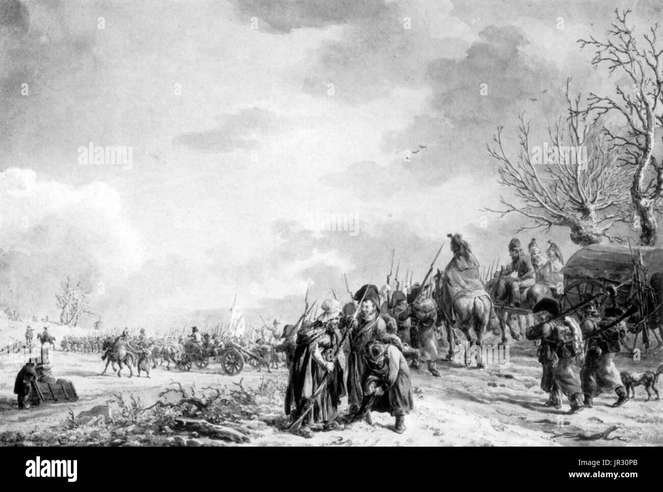 Guerras Napoleónicas,Seguidores Foto de stock