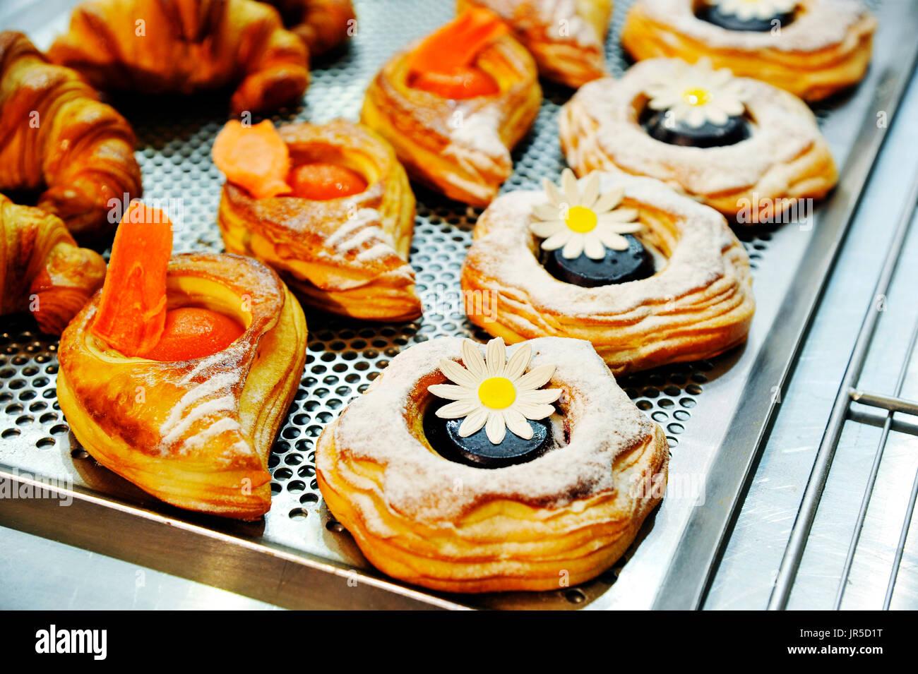 Pastelería francesa en Europain 2016, Villepinte, Francia Imagen De Stock